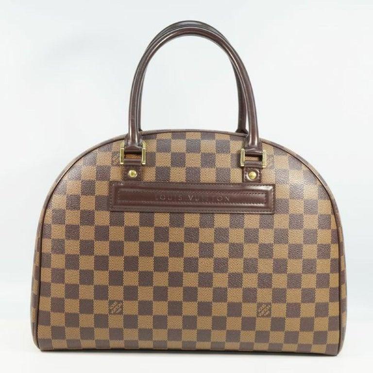 Brown LOUIS VUITTON Nolita Womens Boston bag N41455 Damier ebene For Sale