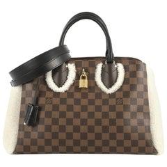 Louis Vuitton Normandy Handbag Damier with Shearling