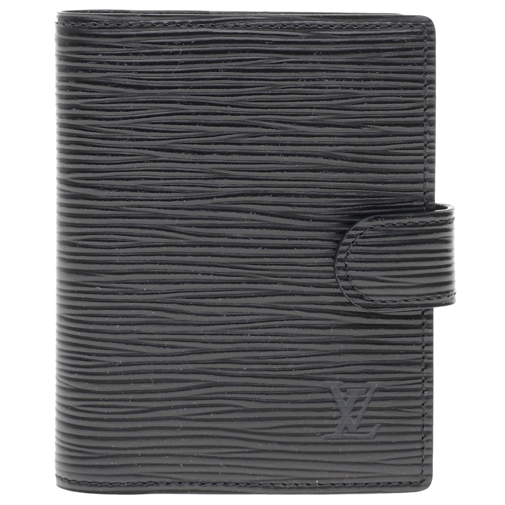Louis Vuitton notebook in black epi leather with paper block and paper pencil