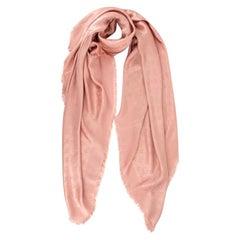 Louis Vuitton Nude Silk & Wool Monogram Shine Shawl