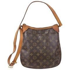 Louis Vuitton Odeon Monogram Pm 870575 Brown Coated Canvas Cross Body Bag