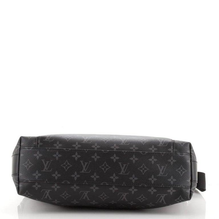 Women's or Men's Louis Vuitton Odyssey Messenger Bag Monogram Eclipse Canvas MM For Sale