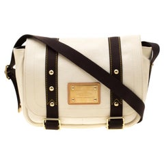 Louis Vuitton Off White Canvas Antigua Sac Rabat Shoulder Bag