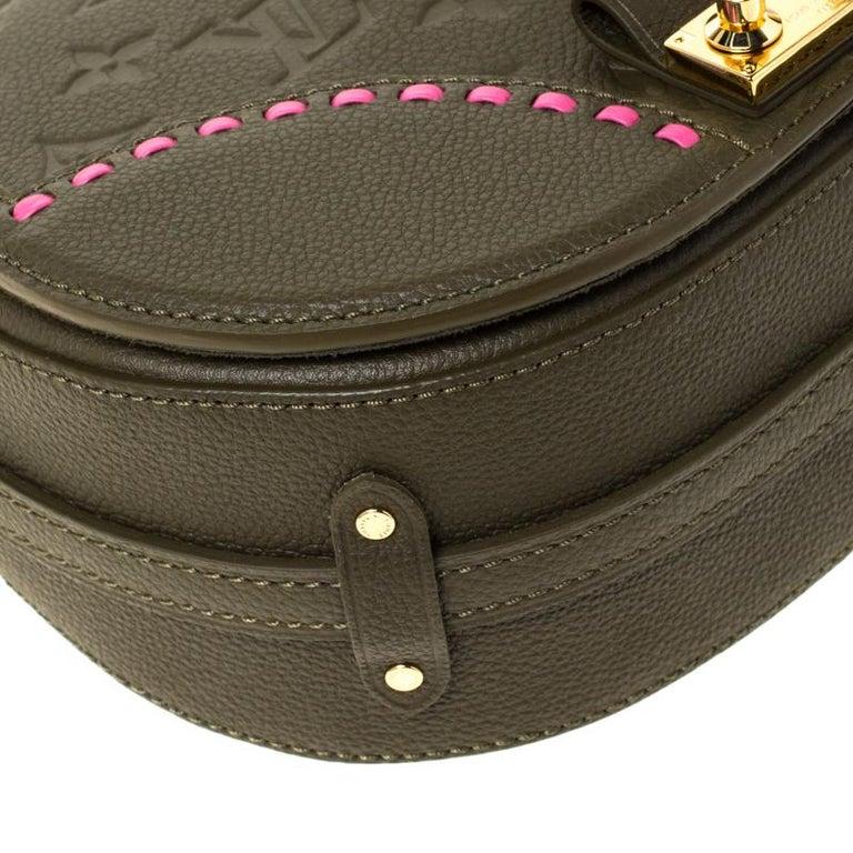 Louis Vuitton Olive Green Monogram Empreinte Leather Junot Shoulder Bag For Sale 5