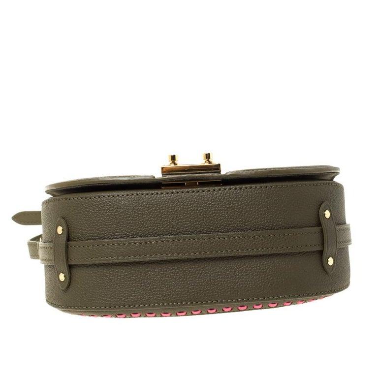 Louis Vuitton Olive Green Monogram Empreinte Leather Junot Shoulder Bag For Sale 6