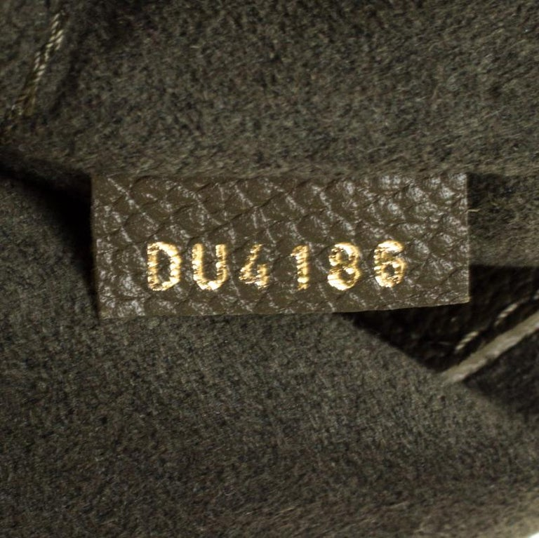 Louis Vuitton Olive Green Monogram Empreinte Leather Junot Shoulder Bag In Good Condition For Sale In Dubai, Al Qouz 2