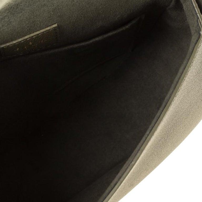 Louis Vuitton Olive Green Monogram Empreinte Leather Junot Shoulder Bag For Sale 1