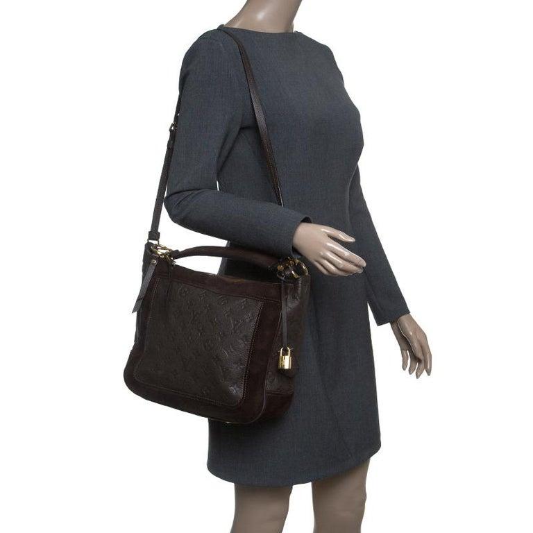 Black Louis Vuitton Ombree Monogram Empreinte Leather Audacieuse PM Bag