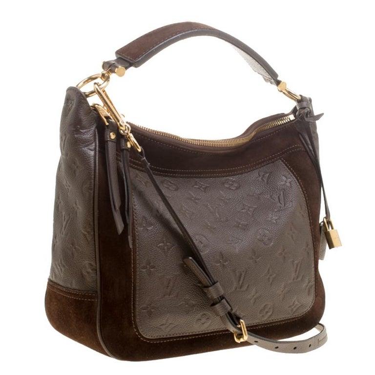 Louis Vuitton Ombree Monogram Empreinte Leather Audacieuse PM Bag In Good Condition In Dubai, Al Qouz 2