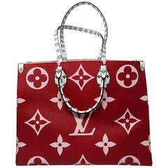 Louis Vuitton On The Go Red Bag