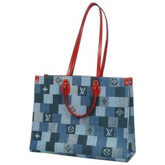 LOUIS VUITTON Onthego GM Womens tote bag M44992 blue x red