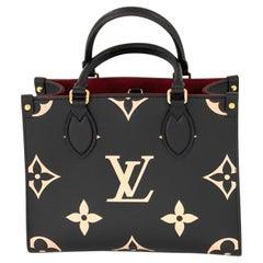 Louis Vuitton ONTHEGO PM M45659 BICOLOR MONOGRAM EMPREINTE LEATHER