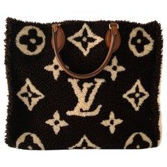 Louis Vuitton Onthego Teddy Monogram Shearling Tote Bag