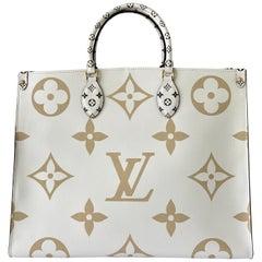 Louis Vuitton Onthego Tote Giant Monogram KHAKI WHITE