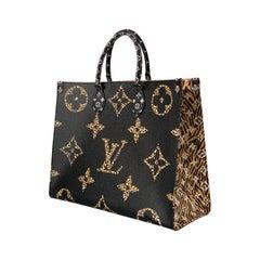 Louis Vuitton Onthego Tote Jungle Black Caramel Monogram Reverse