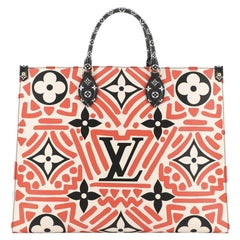Louis Vuitton OnTheGo Tote Limited Edition Crafty Monogram Giant GM