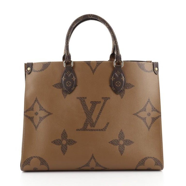 Louis Vuitton OnTheGo Tote Limited Edition Reverse Monogram Giant MM In Good Condition For Sale In New York, NY