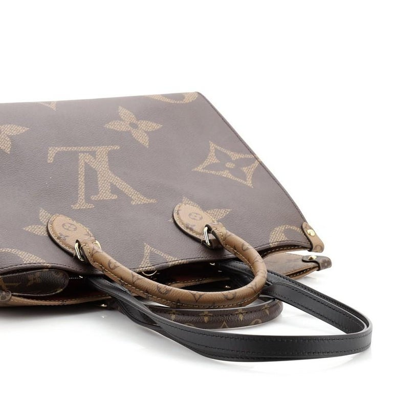 Louis Vuitton OnTheGo Tote Limited Edition Reverse Monogram Giant MM For Sale 3