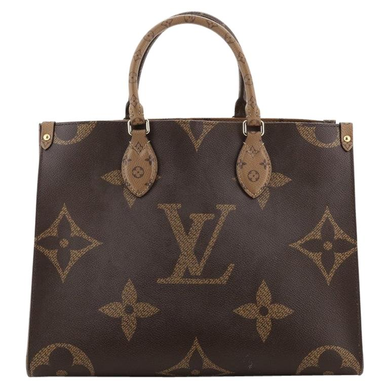 Louis Vuitton OnTheGo Tote Limited Edition Reverse Monogram Giant MM For Sale