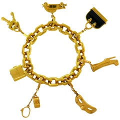 Louis Vuitton Onyx Yellow Gold Charm Bracelet