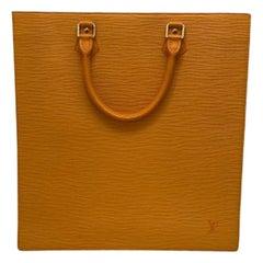 Louis Vuitton Orange Epi Sac Plat Bag