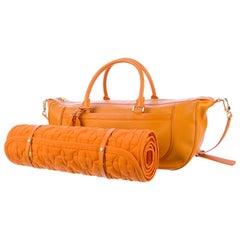 Louis Vuitton Orange Epi Weekender Yoga Sport Bag including Monogram LV Mat Set