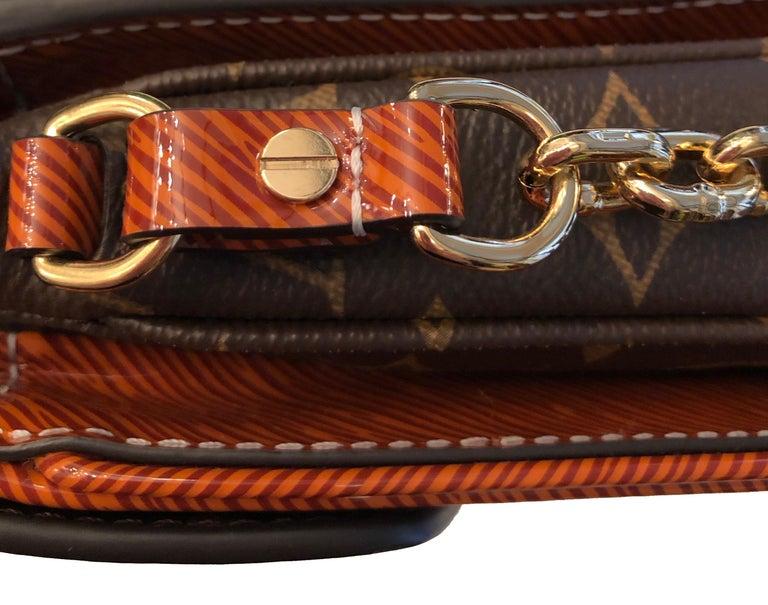 Black Louis Vuitton Orange Gold Patent Epi Leather Mini Pochette Metis  For Sale