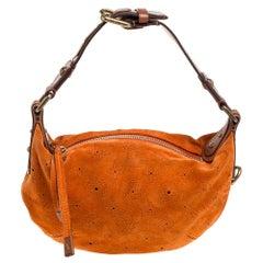 Louis Vuitton Orange Monogram Suede Onatah Fleurs PM Bag