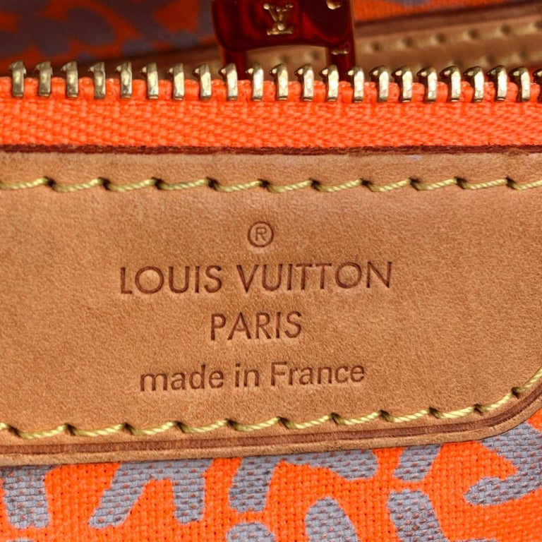 Louis Vuitton Orange Stephen Sprouse Graffiti Neverfull GM Tote Bag For Sale 6