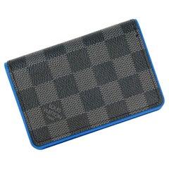 LOUIS VUITTON Organizer de poche Womens card case N64432 black x blue