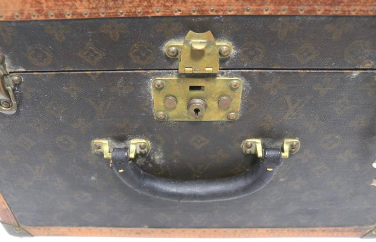 20th Century Louis Vuitton Overnight Trunk Antique Luggage For Sale