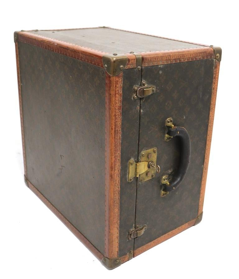 Brass Louis Vuitton Overnight Trunk Antique Luggage For Sale