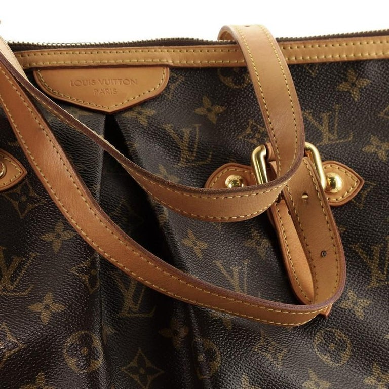 Louis Vuitton Palermo Handbag Monogram Canvas GM For Sale 5