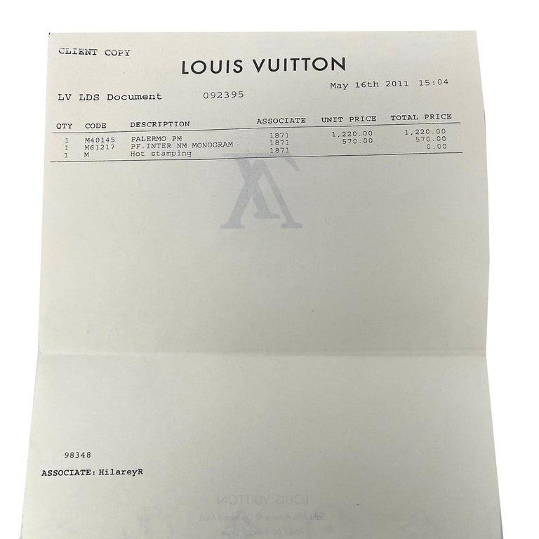 Louis Vuitton Palermo PM Monogram Canvas Crossbody Bag  For Sale 5