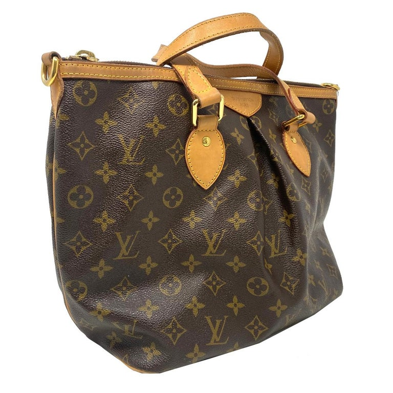 Company-Louis Vuitton Model- Palermo PM Monogram Canvas Crossbody Bag  Color-Brown  Date Code-SD1121 Material-Monogram Leather Canvas Measurements-11.75