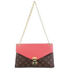 Louis Vuitton Pallas Chain Shoulder Bag Monogram Canvas And Calf Leather