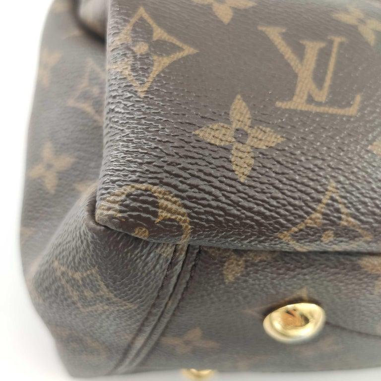 LOUIS VUITTON Pallas Shoulder bag in Brown Canvas For Sale 7