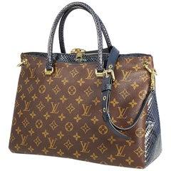 LOUIS VUITTON Pallas Womens handbag blue