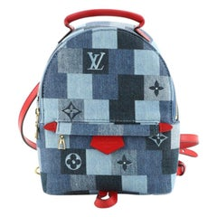Louis Vuitton Palm Springs Backpack Damier and Monogram Patchwork Denim M
