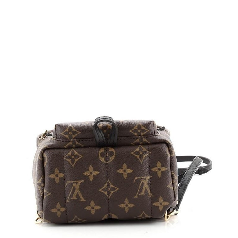 Women's or Men's Louis Vuitton Palm Springs Backpack Limited Edition Monogram Canvas Mini For Sale