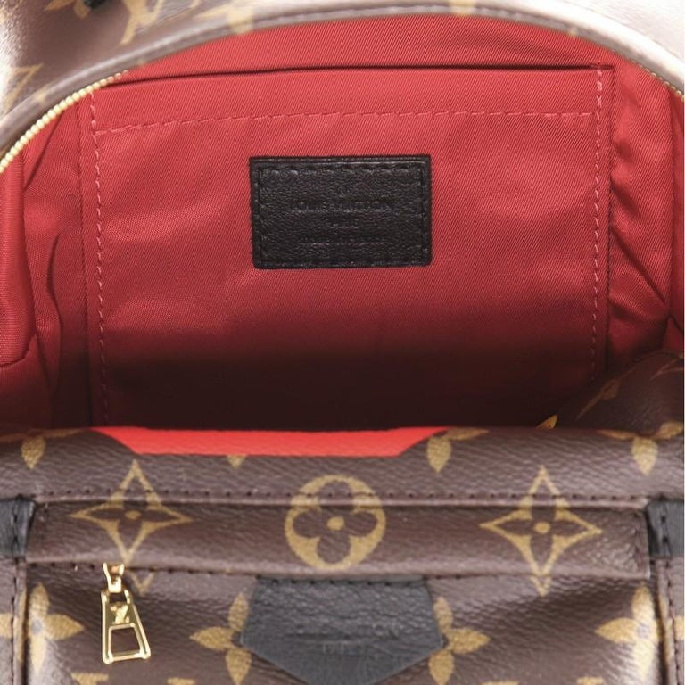 Louis Vuitton Palm Springs Backpack Limited Edition Monogram Canvas Mini For Sale 3