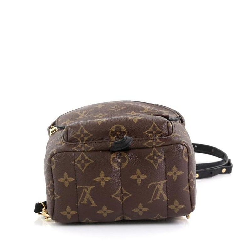 Louis Vuitton Palm Springs Backpack Monogram Canvas Mini  In Good Condition For Sale In New York, NY
