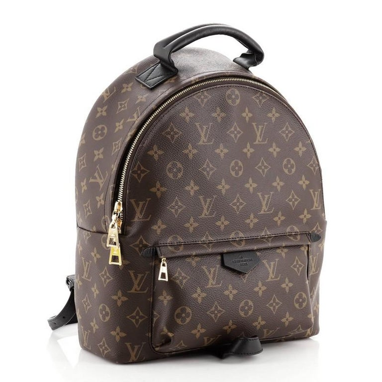 Louis Vuitton Palm Springs Backpack Monogram Canvas MM In Good Condition For Sale In New York, NY