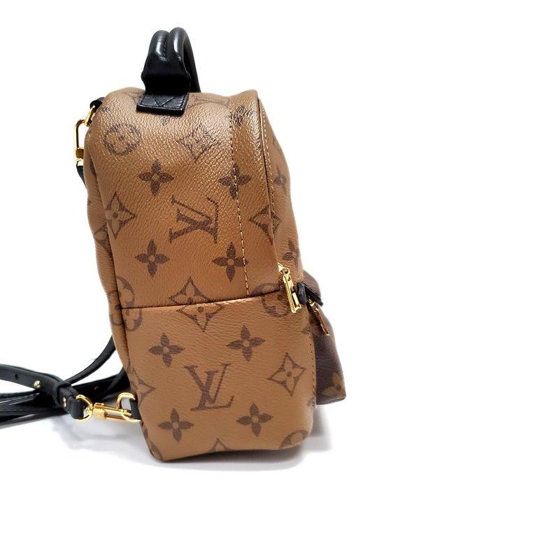 Black Louis Vuitton Palm Springs Brown Monogram Backpack Handbag For Sale