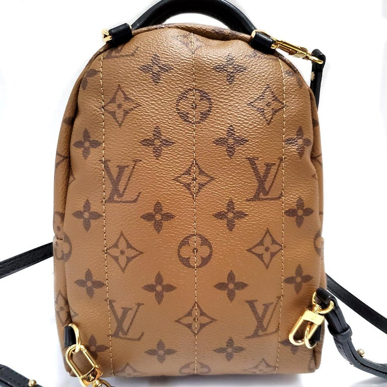 Louis Vuitton Palm Springs Brown Monogram Backpack Handbag In Excellent Condition For Sale In Columbia, MO
