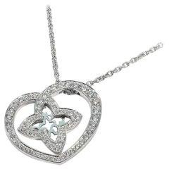 LOUIS VUITTON Pandantif cool PM K18WG diamond necklace Q93214