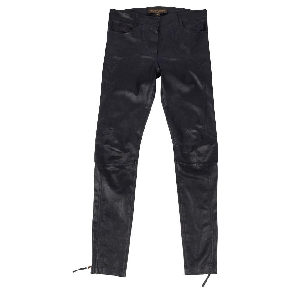 Louis Vuitton Pant Biker  Moto Black Lambskin Leather  38 / 4