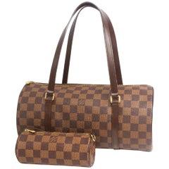 LOUIS VUITTON Papillon 30 GM w pouch Womens Boston bag N51303 Damier ebene