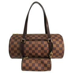 Louis Vuitton Papillon 30 N51303  Handbag Damier Ebene / With Matching Satchel