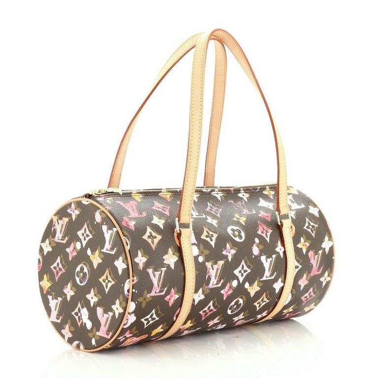Louis Vuitton Papillon Handbag Limited Edition Aquarelle Monogram 30 In Good Condition In New York, NY